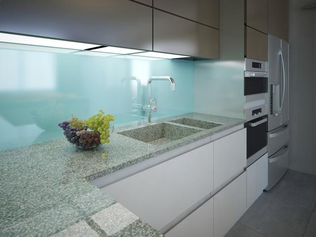 Küchenrückwand, Glasscheibe nach Maß in der Küche - Glasscheibe ...